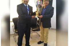 "Abhishek Arya of RPS lifted ""Budding Orator"" Trophy at Inter School English Debate (05-12-18) RPS"