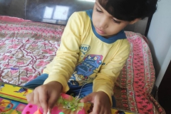 Activity - Clay Modelling (Ganesh Idol) and making Ganesha with leaves for Nursery to Class-I PRS 24.08-2020