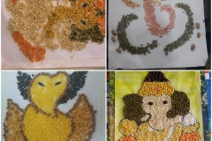 Activity - Thali decoration for Ganesh Aarti and Pasting Dal on Ganesh pictures for Class-II to V PRS 28-08-2020