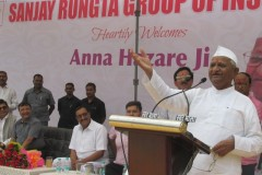ANNA HAZARE JI - WARNS OF AGITATION IF LOKPAL IS NOT ADHERED TO IMPARTED EDUCATION BY EXPERIENCE TO YOUTH AT RUNGTA