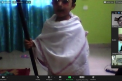 Pre-primary virtual assembly on the occasion of Pre-Independence Day Celebration PRS 14-08-2020