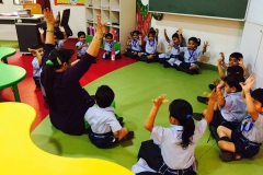Pre- schoolers day began with Circle Time 06-07-2017 RPS