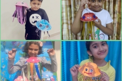 RPS Saturday Activity - Paper bowl jelly fish by Class-II & III 07-12-2020