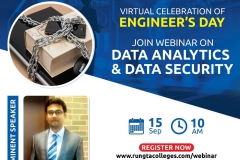 RSR Rungta College if Engineering & Technology Data Analytics and Data Security  13-09-2020