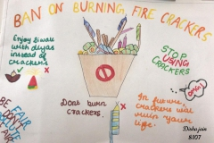 Saturday Activity - Poster Making Ban on Cracker bursting during Diwali RPS 28-11-2020