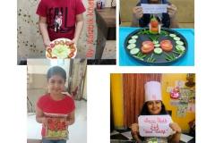 Saturday Activity - Salad Decoration (Class-IV & V) RPS 30-11-2020