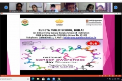 Special Assembly on National Cancer Awareness Day RPS 07-11-2020