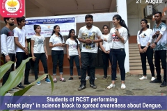 students of RCST organized a 'street play On (21-08-2018) RCST